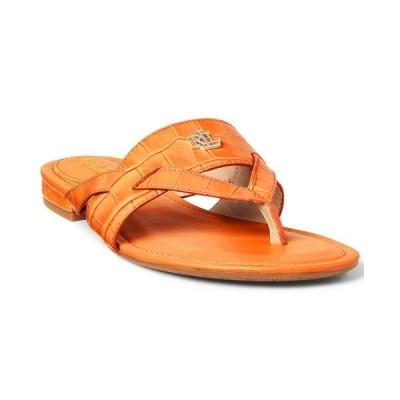 ラルフローレン サンダル シューズ レディース Women's Rosalind Croc-Embossed Thong Sandals Persimmon