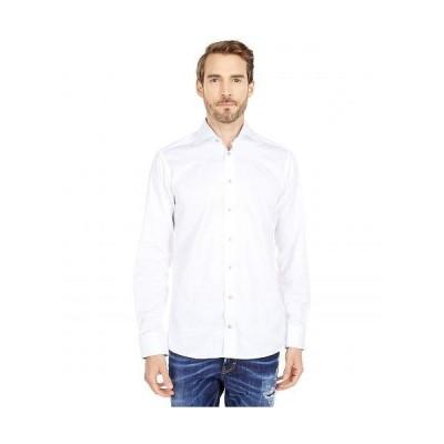 Eton イートン メンズ 男性用 ファッション ボタンシャツ Slim Twill Shirt - Blue Cuff Details - White
