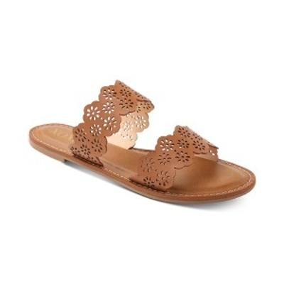 キスキス レディース サンダル シューズ Ramsey Double Band Slide Sandals Tan Brown