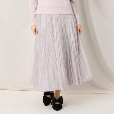 クチュール ブローチ Couture brooch レースチュール×サテンリバーシブルスカート (パープル)