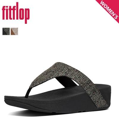 FitFlop フィットフロップ サンダル トングサンダル レディース LOTTIE GLITTER STRIPE TOE-THONGS SANDALS ブラック ベージュ 黒 BF8