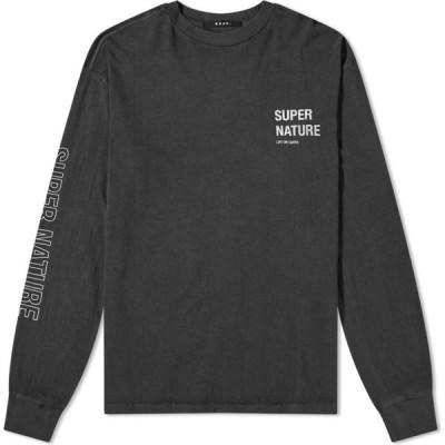 スビ Ksubi メンズ 長袖Tシャツ トップス long sleeve super nature tee Black