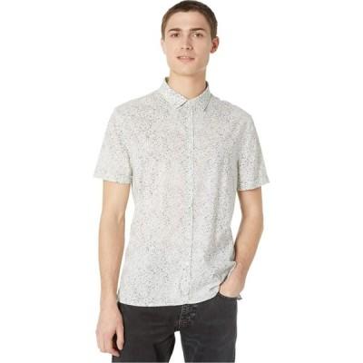 ジョン バルベイトス John Varvatos Collection メンズ 半袖シャツ トップス Slim Fit Short Sleeve Sport Shirt W516W1 Silver/Grey