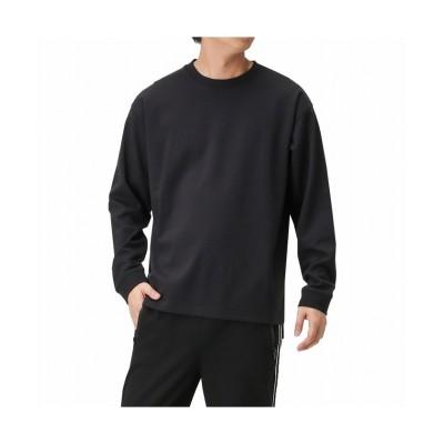 (MAC HOUSE(men)/マックハウス メンズ)Simplify ポンチクルーネックTシャツ 01-7272P-VJ/メンズ ブラック