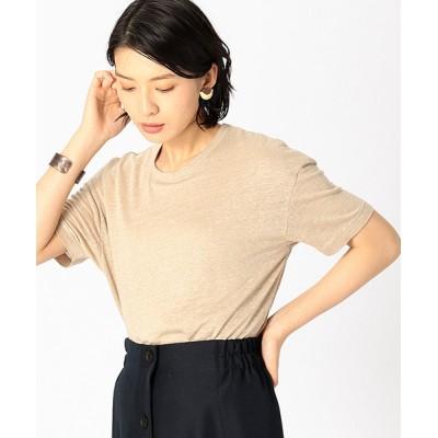 COMME CA ISM / 《ウォッシャブル》フレンチリネン Tシャツ WOMEN トップス > Tシャツ/カットソー