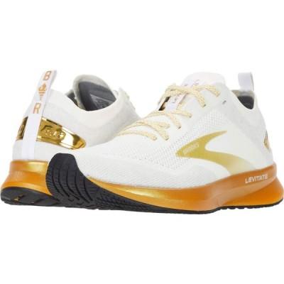 ブルックス Brooks レディース シューズ・靴 Levitate 4 White/Gold
