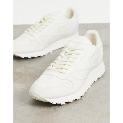リーボック Reebok メンズ スニーカー シューズ・靴 Classic Leather Non-Dyed Trainers In Off White オフホワイト