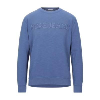 ペペ ジーンズ PEPE JEANS スウェットシャツ ブルー M コットン 90% / ポリエステル 10% スウェットシャツ