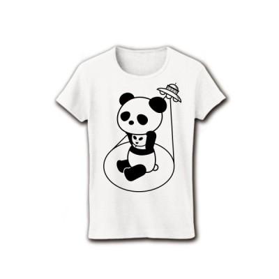 着ぐるみバイト宇宙人 リブクルーネックTシャツ(ホワイト)