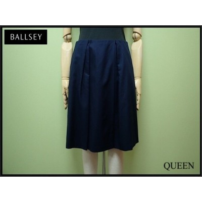 Ballsey コットンスカート・36△ボールジー/トゥモローランド/紺¨