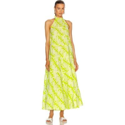 ロードリゾート Rhode レディース ワンピース ワンピース・ドレス julia dress Chartreuse Batik