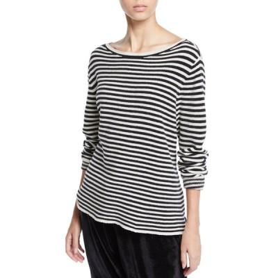 エイリーンフィッシャー レディース ニット・セーター アウター Chenille Striped Sweater
