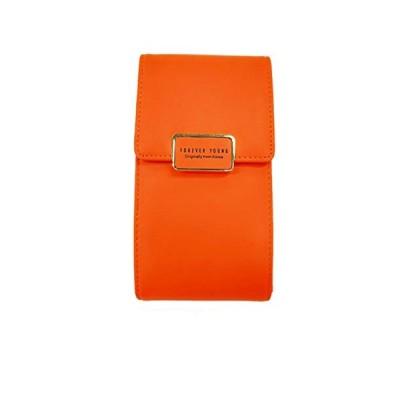 Meiion 財布 レディース長財布 大容量PUレザー財布 多機能斜め財布 女の子用ウォレット スマートフォン 財布 (オレンジ色)