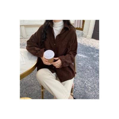 【送料無料】~ 開襟シャツ 韓国風 ルース コーデュロイ 手厚い 何でも似合う アウトドア シャツコ   346770_A64410-4456884