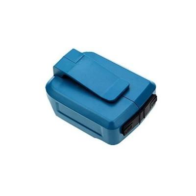 AkoMatial Safe Charge 1814.4V USB Li-ion Battery Plastic Charger Adapter for Makita BL14151445181518301845【並行輸入品】