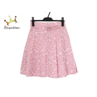 エムズグレイシー M'S GRACY スカート サイズ36 S レディース 美品 白×ピンク 新着 20201019