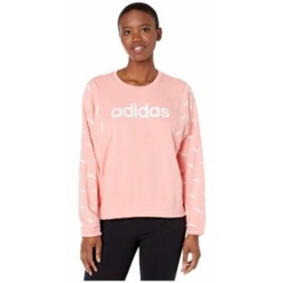 アディダス レディース パーカー・スウェット アウター Favorite Sweatshirt Glory Pink/White