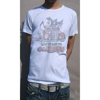 Tシャツ メンズ 半袖 80年代 アメリカ ステッカー付き ガム菓子 サンプリング デザイン Tee 送料無料(d9-t)