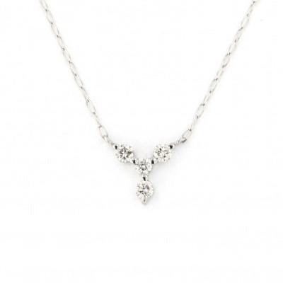 PT900 ダイヤモンド ネックレス/ペンダント