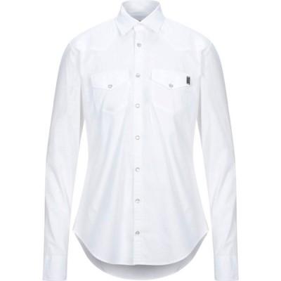 リウジョー LIU JO MAN メンズ シャツ トップス solid color shirt White
