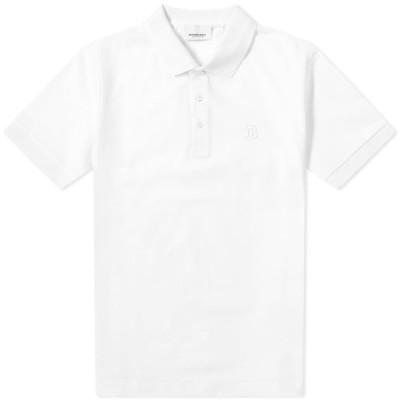 バーバリー Burberry メンズ ポロシャツ トップス Eddie Polo Shirt White