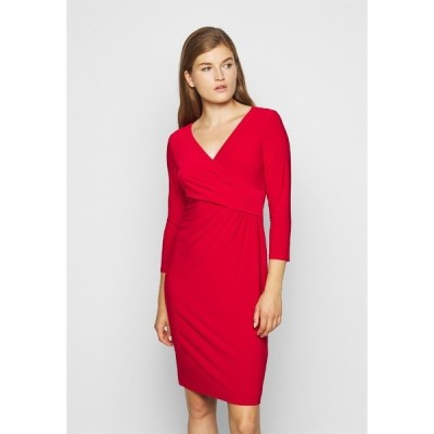 ラルフローレン ワンピース レディース トップス MID WEIGHT DRESS - Shift dress - lipstick red
