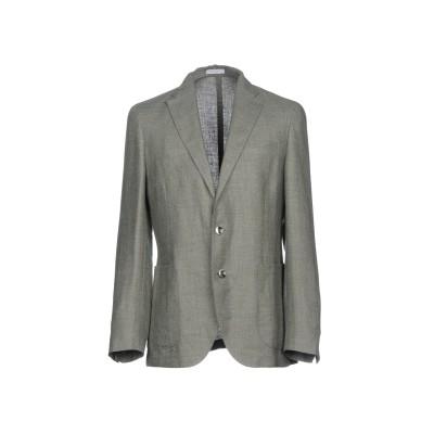 ボリオリ BOGLIOLI テーラードジャケット ミリタリーグリーン 50 52% 麻 48% ウール テーラードジャケット