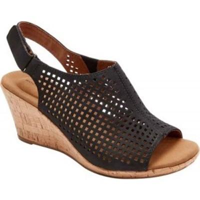ロックポート Rockport レディース サンダル・ミュール シューズ・靴 Briah Perfed Slingback Black Nubuck