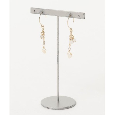 ピアス 【Serenite Jewelbox】Fresh water pearl and moonstone earrings