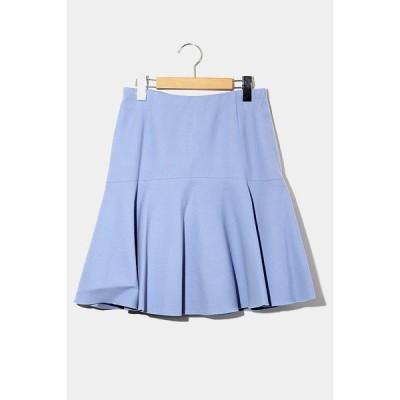 【中古】ROPE ロペ ウール ダブルクロス フラノ ペプラムスカート 38 BLUE ブルー /◆☆  レディース 【ベクトル 古着】