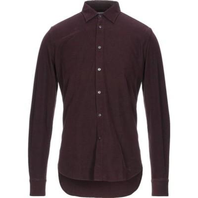 ボリオリ BOGLIOLI メンズ シャツ トップス solid color shirt Maroon