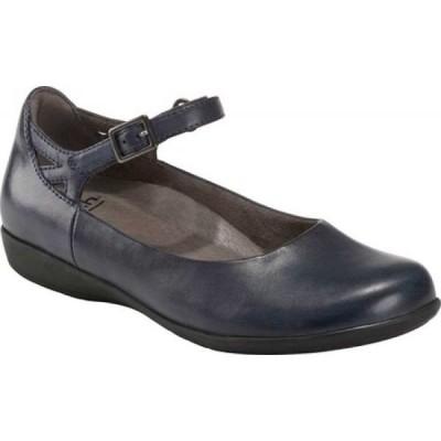 カルソーアースシューズ Earth レディース スリッポン・フラット シューズ・靴 Alder 2 Dalma Quarter Strap Flat Admiral Blue Leather