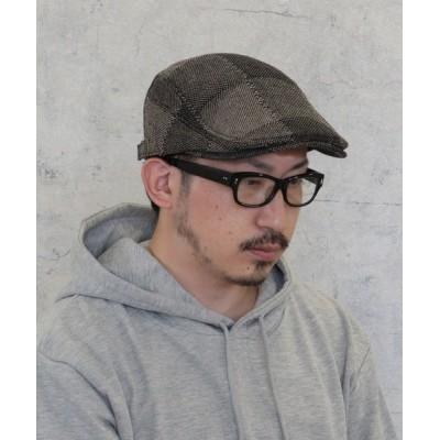 kana / ハンチング ヘリンボーン チェック メンズ ユニセックス MEN 帽子 > ハンチング/ベレー帽