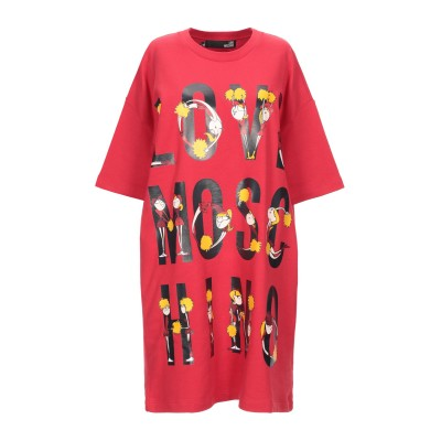 ラブ モスキーノ LOVE MOSCHINO ミニワンピース&ドレス レッド 44 コットン 100% ミニワンピース&ドレス