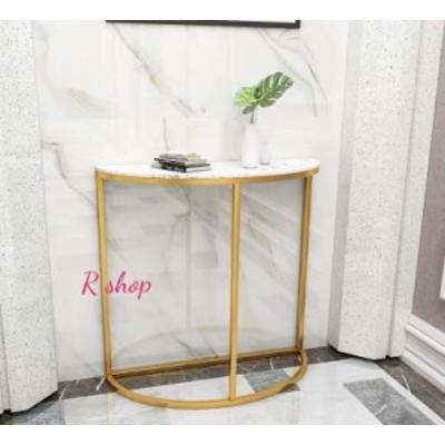 高級サイドテーブル 大理石コンソールテーブル 玄関テーブル 花台 電話台 アンティーク調デザイン 幅100cm