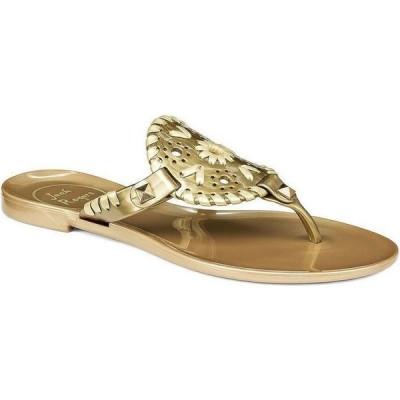 ジャックロジャース Jack Rogers レディース サンダル・ミュール シューズ・靴 georgica thong jelly sandals Gold