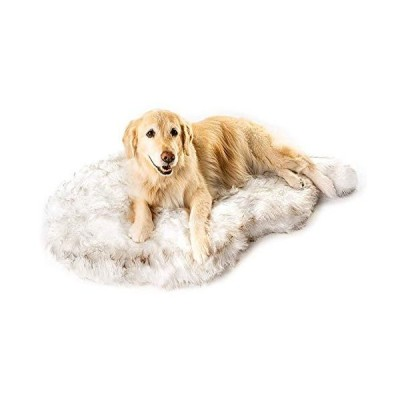 Puprug Faux Fur Memory Foam Orthopedic Dog Bed, Premium Memory Foam Base, Ultra-Soft Faux Fur Cover, Modern and Attractive Design (Large/Ext