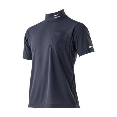ミズノ公式 ハイドロ銀チタンワークシャツ半袖 メンズ ディープネイビー