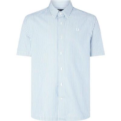 フレッドペリー Fred Perry メンズ シャツ トップス Vertical Stripe Shirt Sky