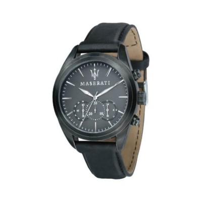 腕時計 マセラティ Maserati R8871612019 Men's Traguardo Chronograph Black Dial Watch