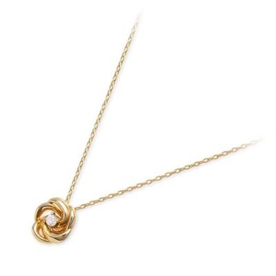 ゴールド ネックレス ダイヤモンド 彼女 記念日 ギフトラッピング ウィスプ 誕生日 送料無料 レディース