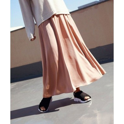 スカート ソフトマーメイドロングスカート