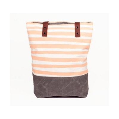 SUCH SWEET TIERNEY   PEACH STRIPE TOTE   トートバッグ