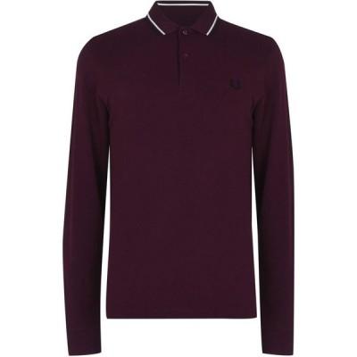 フレッドペリー Fred Perry メンズ ポロシャツ トップス Long Sleeve Twin Tipped Polo Shirt Mahogany