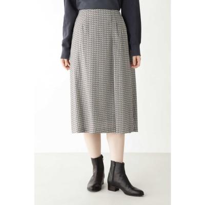 ◆コットンレクセルビエラプリントスカート グレー系3