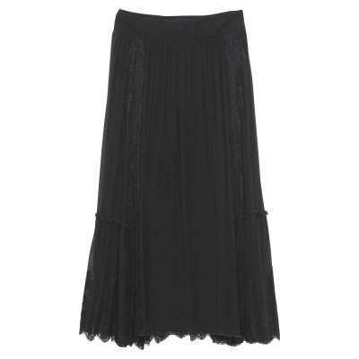 アルベルタ フェレッティ ALBERTA FERRETTI ロングスカート ブラック 40 シルク 100% / コットン / ナイロン ロングスカ