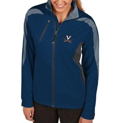 アンティグア ジャケット&ブルゾン アウター レディース Virginia Cavaliers Antigua Women's Discover FullZip Jacket Navy