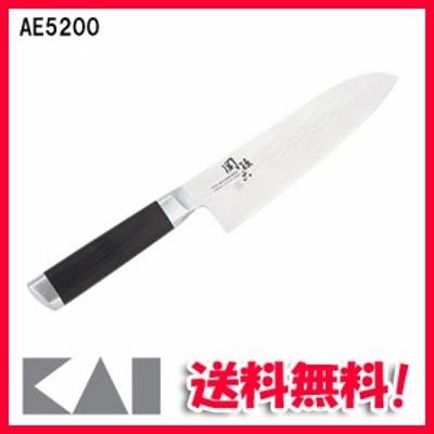 (送料無料)貝印 関孫六 ダマスカス AE5200 三徳包丁 日本製 165mm AE-5200