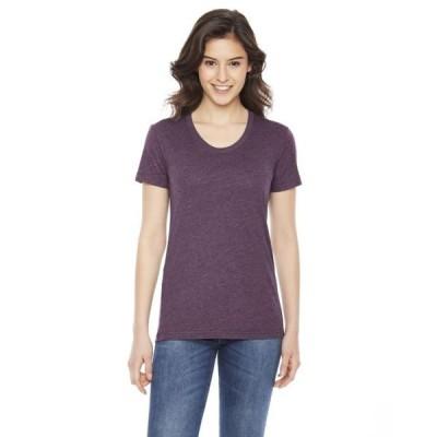 レディース 衣類 トップス Womens Poly-Cotton Crew Neck T-Shirt Tシャツ