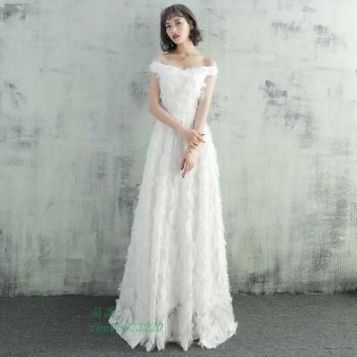 Aラインドレス ドレス 花嫁 大きいサイズ エンパイア 袖あり 挙式 ロングドレス 安い パーティードレス 二次会 ウェティグドレス 結婚式